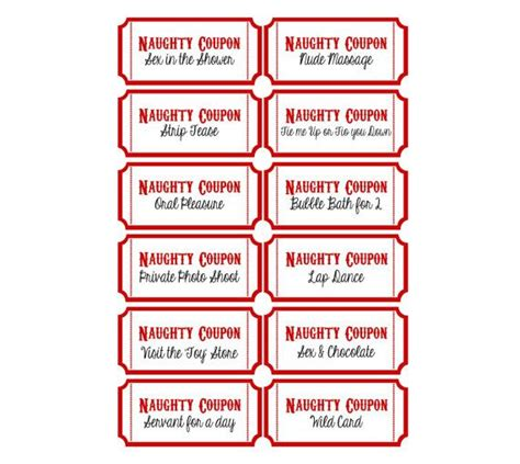 printable naughty coupons valentine s por