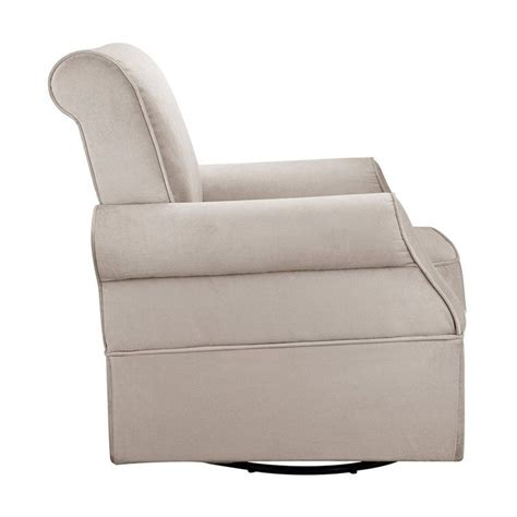Swivel Glider With Ottoman Swivel Glider And Ottoman In Beige Wm108d Sgo