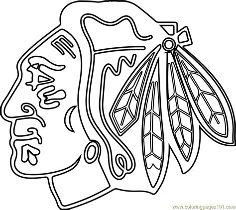 chicago blackhawks colors chicago blackhawks logo coloring page free nhl coloring