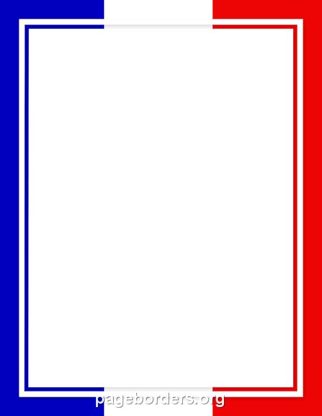 printable french flag border use the border in microsoft