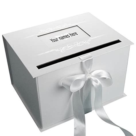 Wedding Gift Card Box - decorative boxes wedding gift card box reception white silver beautifully design ebay