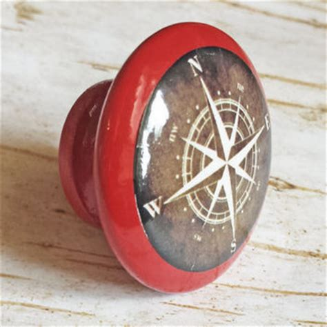 nautical compass knob drawer pulls from