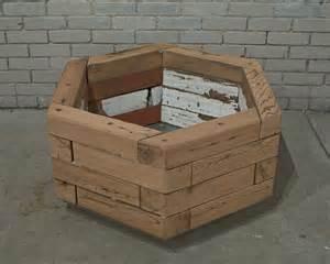 Patio Table Base Reclaimed Hexagonal Wood Planter 1 Custom By Rushton Llc