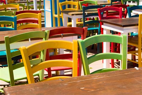 colorful wooden chairs colorful wooden chairs free stock photo domain