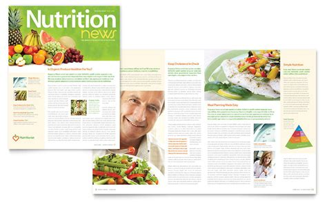 nutritionist dietitian newsletter template word