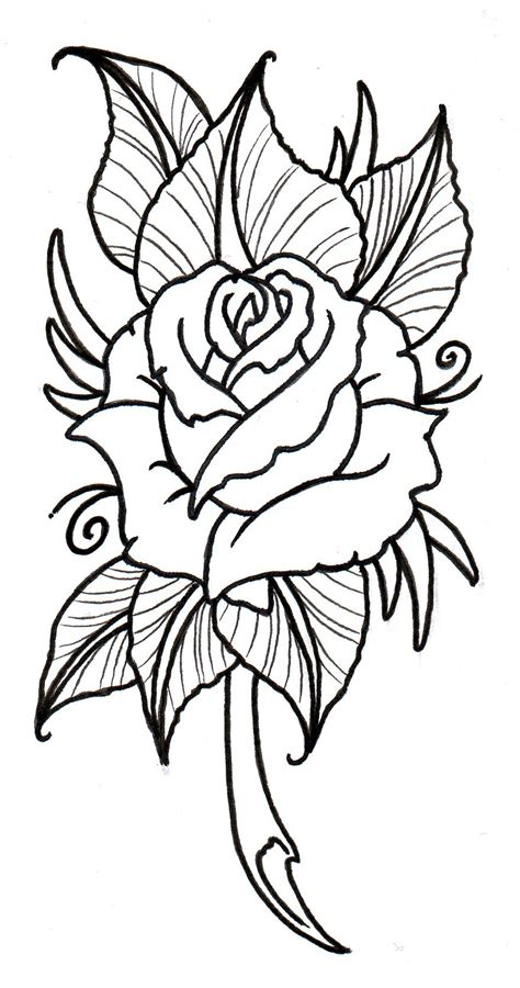 outline of a rose tattoo family by zeela the guardian on deviantart