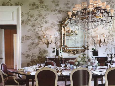 wallpaper dining room ideas bloombety beautiful dining room wallpaper design ideas