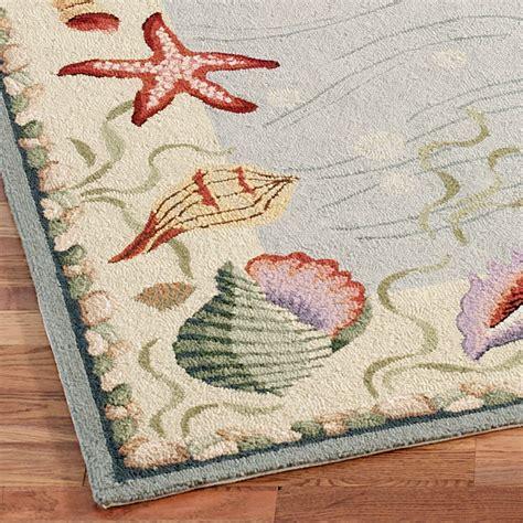 coastal rug runners coastal seashell rug runner