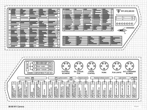 service manuals schematics 1986 porsche 911 instrument cluster service manual fuse box label for 1988 carrera pelican parts technical bbs 1987 porsche 930