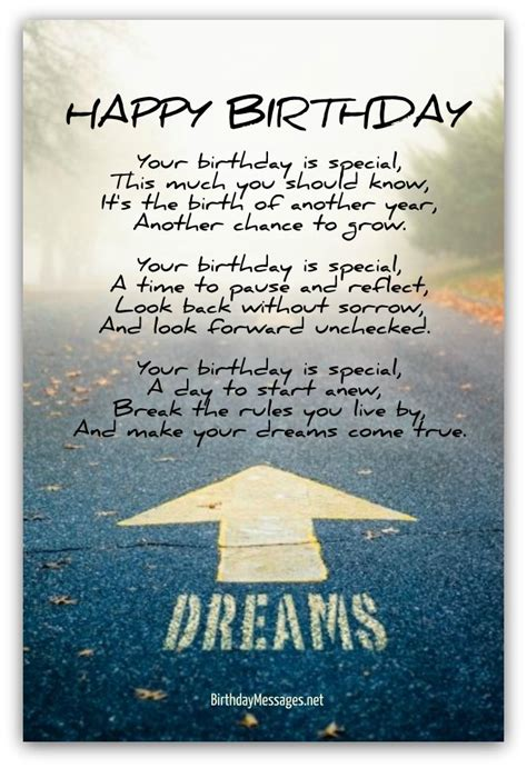 Inspirational Quotes Birthday Wishes Inspirational Birthday Poems Page 4