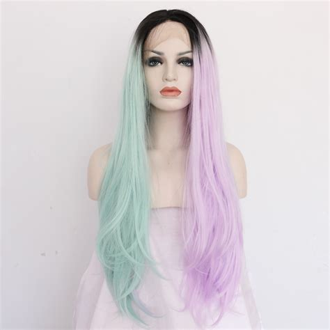 colorful ombre colorful three tones ombre lace front wigs