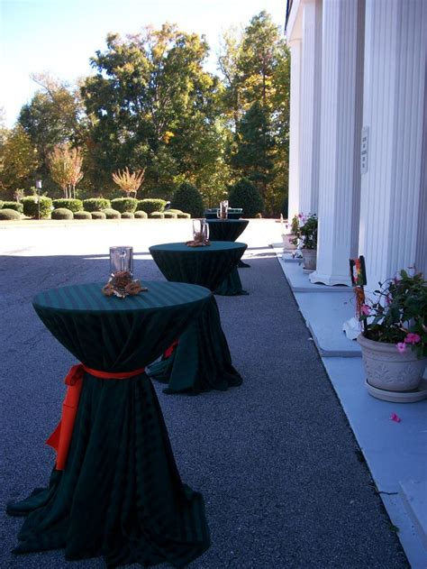 cocktail table sash here are our highboy cocktail tables with black linens and