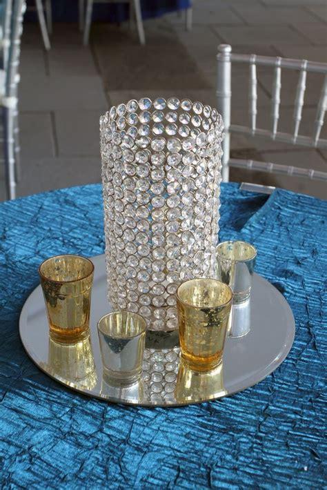 Mirror Center Pieces Cylinder Centerpiece On Mirror Tray Event Rental
