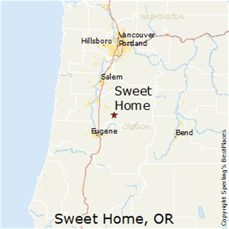 map sweet home oregon oregon map