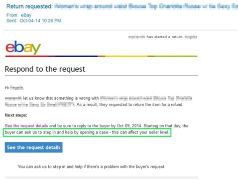 ebay refund return request from buyer i have a question the ebay