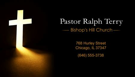 Free Pastor Business Card Templates by Pastor Information Business Card Signazon