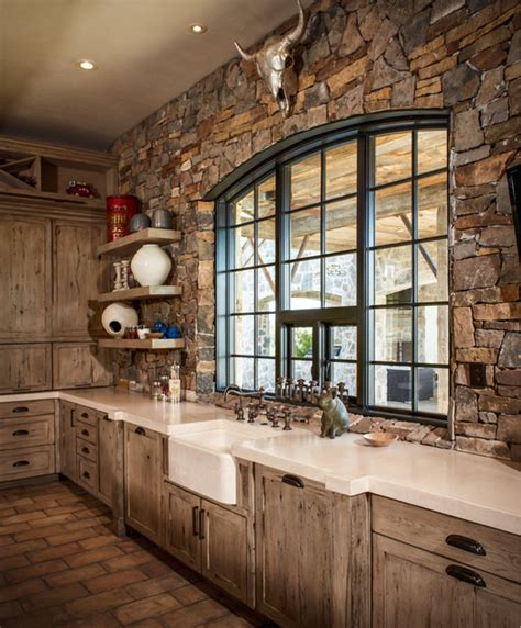 Kitchen Faucets Houston Ranch Rustic Kitchen Houston By Thompson Custom Homes