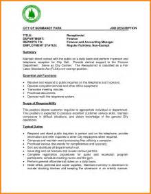 resume template for receptionist resume template for receptionist resume format pdf