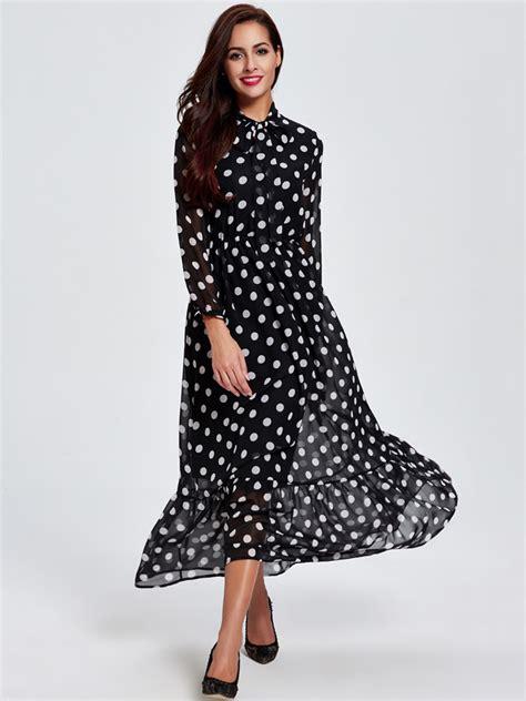 Denim Dress Baju Dress Maxi Dress Simply Polka 1 chiffon bow polka dot sleeve dress baigcho