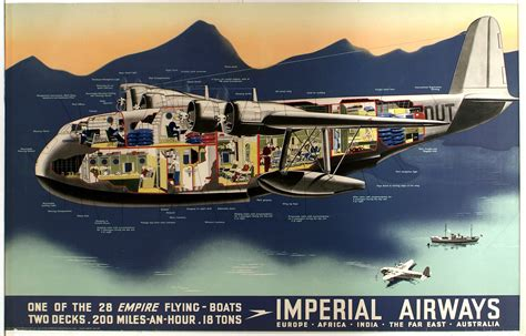 flying boat victoria falls imperial airways one of the 28 empire flying boats