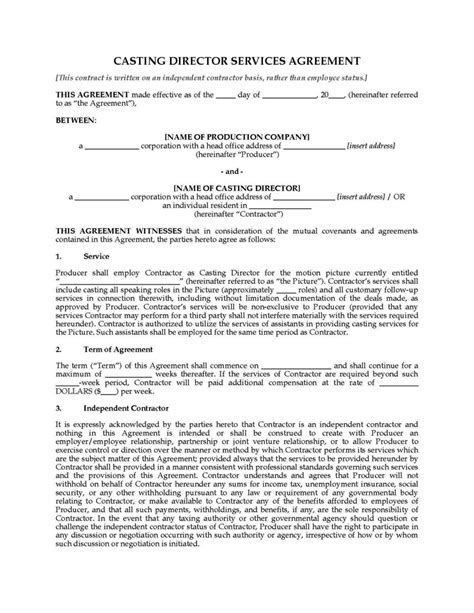 Director Agreement Template Sletemplatess Sletemplatess Director Contract Template
