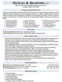 respiratory therapist resume sle choose create this cv therapist cover letter