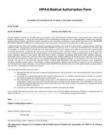 hipaa release form template sle hipaa form 9 exles in pdf word
