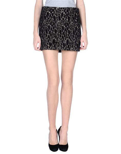 ba sh mini skirt in black lyst