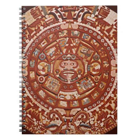 100 aztec gods designs a page 59 of 78 ancient aztec calendar up notebook zazzle
