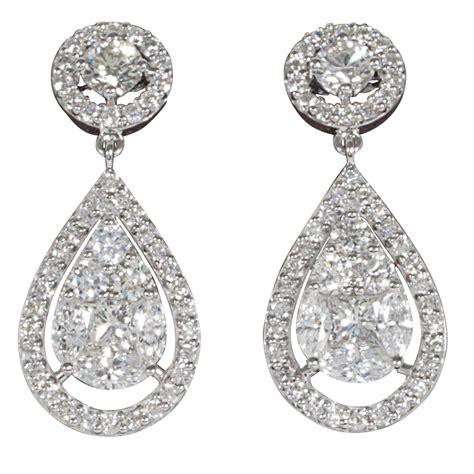 Favorite Things Home Decor by Elegant Illusion Diamond Dangle Earrings At 1stdibs