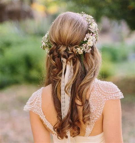 wedding hairstyles with headband and curls half up half down wedding hairstyles 40 stylish ideas