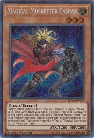 Yugioh Magical Secret magical musketeer caspar spwa en016 secret 1st edition yu gi oh singles 187 spirit