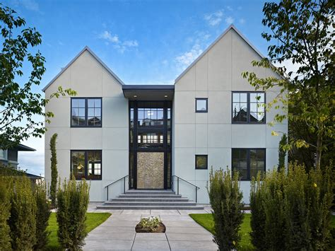 cool stucco finishes mode seattle transitional exterior decorating ideas with casement windows