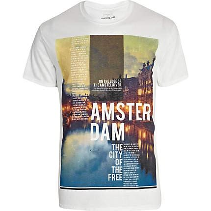 Tshirt Kaos Hawaii riverisland white amsterdam photograph print t shirt an