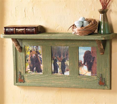 vintage black bears wall shelf