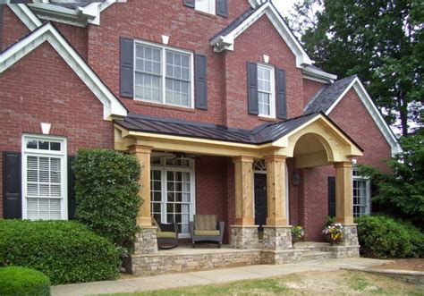 adding front porch to brick house house style and plans