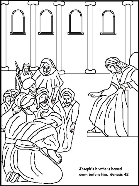 joseph s brothers bow before him coloring page