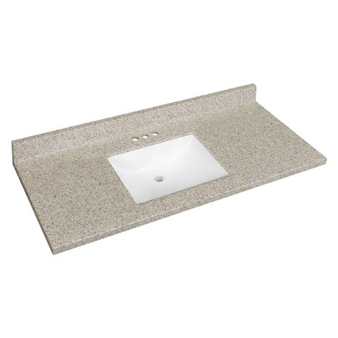 Solid Surface Technology Glacier Bay 49 In W Solid Surface Technology Vanity Top