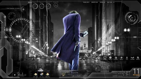 Themes For Windows 7 Joker | dark joker batman theme rainmeter win7 theme by