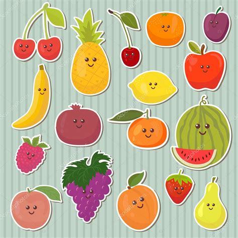 imagenes de comida saludable kawaii cute dibujos animados frutas comida sana archivo