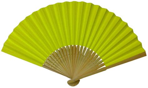 Folding Paper Fan - folding paper fan 8 25 quot neon yellow