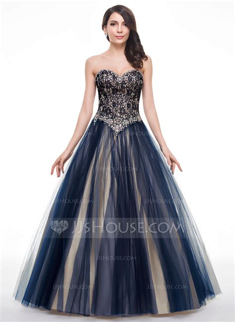 dress design for js prom ball gown sweetheart floor length tulle lace prom dress