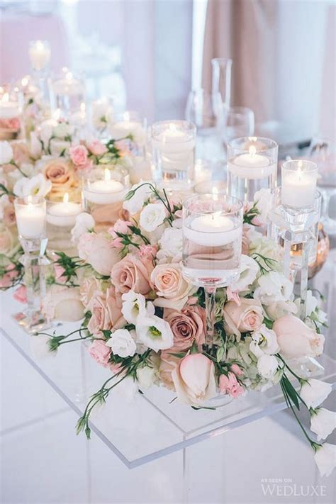 18 blush wedding centerpieces for your big day