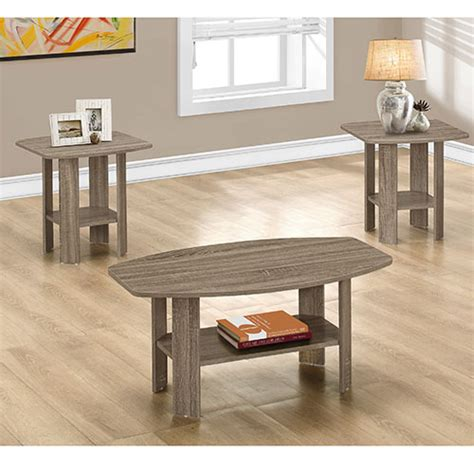 Boscov S Kitchen Tables by Monarch Specialties Set Of 3 Tables Taupe Boscov S