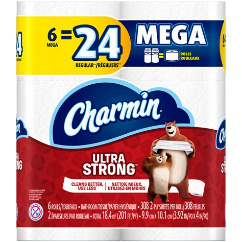 What Makes Toilet Paper Strong - charmin ultra strong toilet paper 6 mega rolls