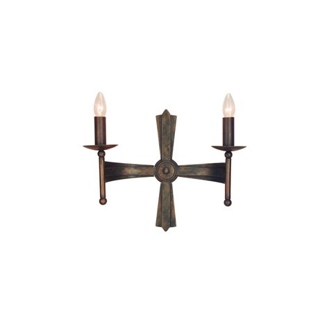 Wrought Iron Wall Lights Elstead Cw2 Cromwell Wrought Iron Wall Light Lighting