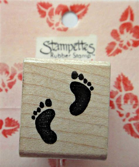Baby Footprints Rubber St