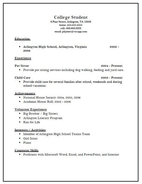 College Resume Template by College Scholarship Resume Template Best Resume Collection