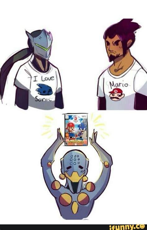 genji and hanzo overwatch meme genji hanzo zenyatta e mario e sonic xd overwatch