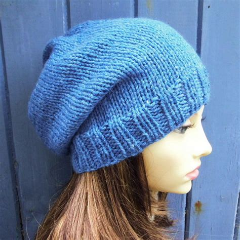 simple knit hat pattern circular needles knitting pattern womans slouchy beanie pattern easy